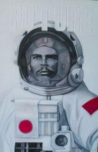 El sacerdote. Pintura de Camilo Villalvilla.